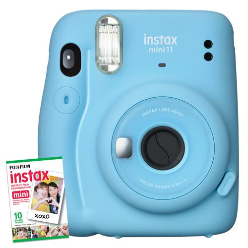 Appareil photo à développement instantané Instax Mini 11 de Fujifilm (bleu ciel) 15100 Points