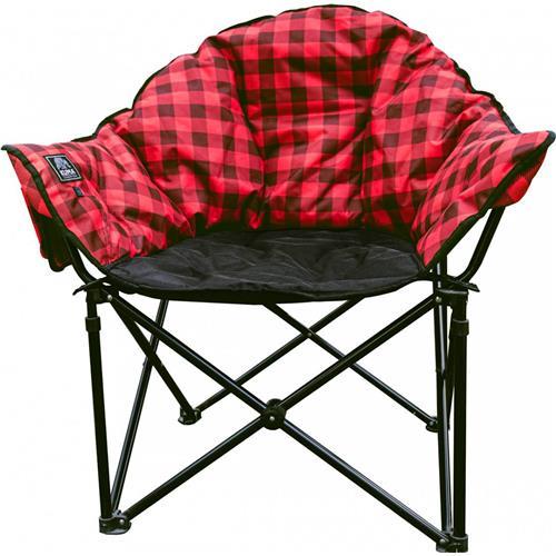 Kuma Lazy Bear Heated Chair - Red Plaid