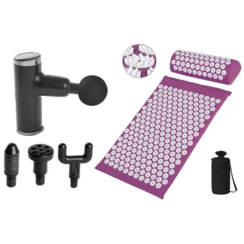 T-Zone Health™ Massage Gun With Acupressure Mat and Pillow Set