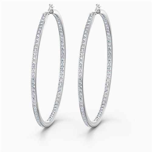 Swarovski® Rare Hoop Pierced Earrings - White
