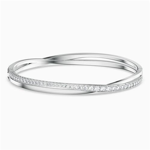 Bracelet-jonc Twist Rows de Swarovski® (moyen)
