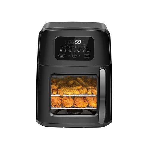 Combiné four, friteuse à air chaud, rôtissoire et déshydrateur à remuage automatique Chefman de 11 l
