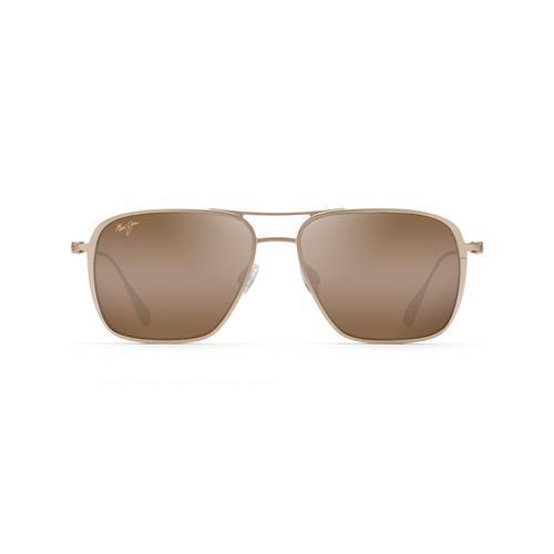 Maui Jim® Beaches Polarized Aviator Sunglasses - Satin Gold