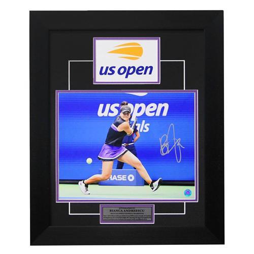 A.J. Sports World Bianca Andreescu Autographed 2019 U.S. Open Finals Frame 35,700 Points