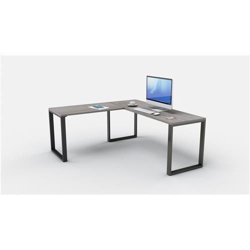 Belair Lite L-Shape Desk with Metal Legs