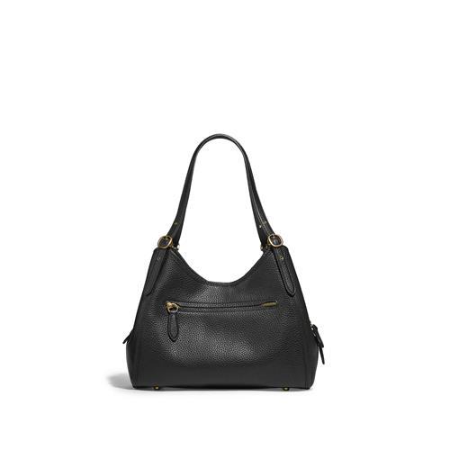 Coach® Lori Shoulder Bag in Soft Pebbled Leather - Black