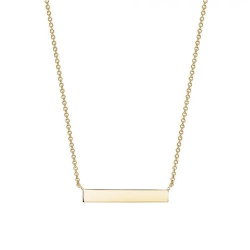 Birks Essentials Gold Horizontal Bar Necklace