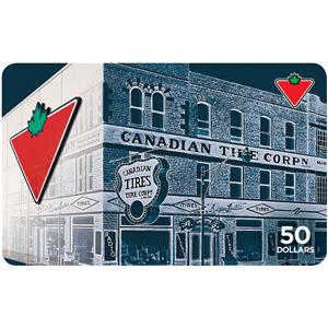 Canadian Tire Carte-cadeau 50 $