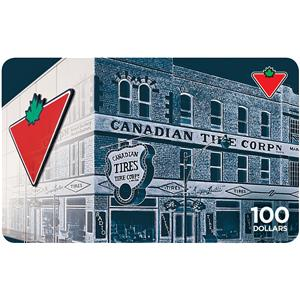 Canadian Tire Carte-cadeau 100 $