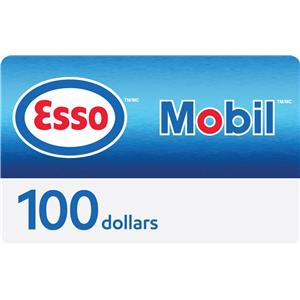 Esso and Mobil $100 Gift Card