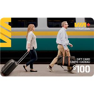Carte-cadeau VIARail Canadainc. de 100$