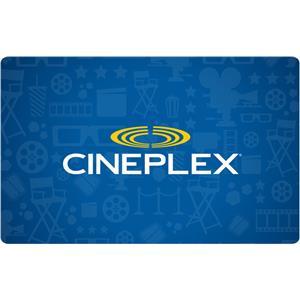 Cineplex $100 Gift Card