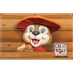 Carte-cadeau Great Wolf Lodge de 100 $