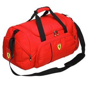 Ferrari Overnight/Sport Bag Nylon - Red