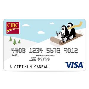 CIBC Visa* Prepaid Gift Card - $50