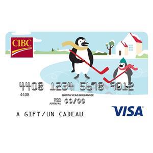 CIBC Visa* Prepaid Gift Card - $100