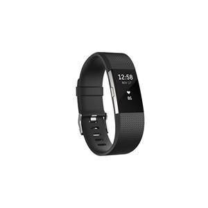 Bracelet d'activité et de suivi de la fréquence cardiaque Fitbit Charge 2 noir (grand)