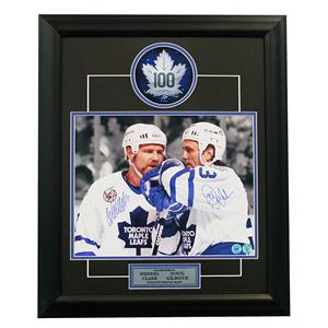 A.J. Sports World Gilmour and Clark Toronto Maple Leaf Signed Frame